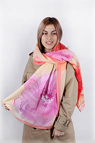 Old Collection FAMO Шарф Молли хризантемы розовый 180*90 (PC3909)