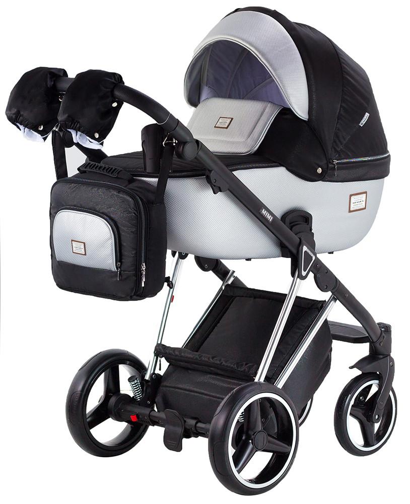 Дитяча коляска 2 в 1 Adamex Mimi Polar (Chrome) Y843