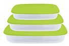 Контейнер для пищевых продуктов, прямоугольный. Набор 3в1, фото 3