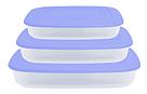 Контейнер для пищевых продуктов, прямоугольный. Набор 3в1, фото 2