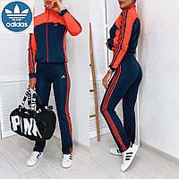 Женский спортивный костюм Adidas Classic. Ткань дайвинг. Красный