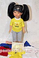 Футболка для ляльки зростанням 28 см, ручна робота
