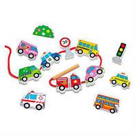 """Шнурівка Viga Toys """"Автотранспорт"""" (59851)"""