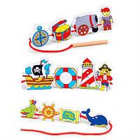 Деревянная шнуровка Viga Toys Пираты (59852VG)