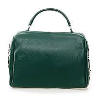 Сумка - саквояж из натуральной кожи для женщин Alex Rai 25*19*13см цвет зеленый (7-01 7118 green)