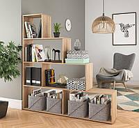 Стеллаж для книг, игрушек и цветов, стеллаж для зонирования комнаты P0002, Дуб Сонома