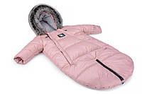623251 Зимний комбинезон - трансформер Cottonmoose Moose 0-6 M 767/111 pink (розовая пудра), фото 1