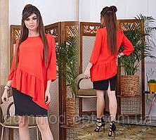 Жіночий костюм сорочка+спідниця Модель № 6031-4 (р. 42-46)