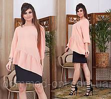 Жіночий костюм сорочка+спідниця Модель № 6031-5 (р. 42-46)