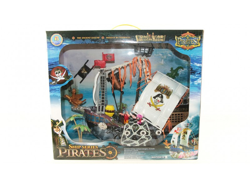 Пиратский корабль  с фигурками 50838B