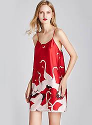 Рубашка ночная женская Stork, красный Berni Fashion (M)