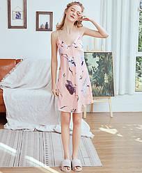 Рубашка ночная женская Fauna, розовый Berni Fashion (M)