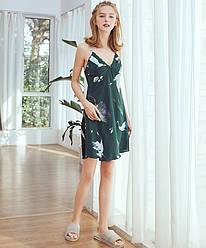 Рубашка ночная женская Fauna, зеленый Berni Fashion (M)