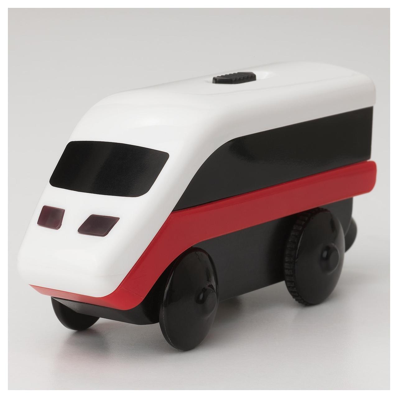 Паровозик на батарейках для деревянной железной дороги Ikea Lillabo