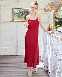 Рубашка ночная женская Grace, красный Berni Fashion (M)