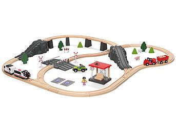 Дерев'яна залізниця PlayTive Junior (80 елементів) Німеччина