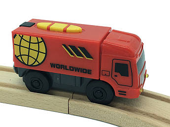 Пожарная машина на батарейках до деревянной железной дороги Playtive Junior Truck Германия