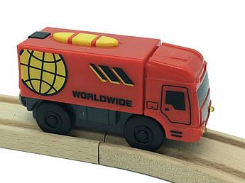 Пожежна машина на батарейках до дерев'яної залізниці Playtive Junior Truck