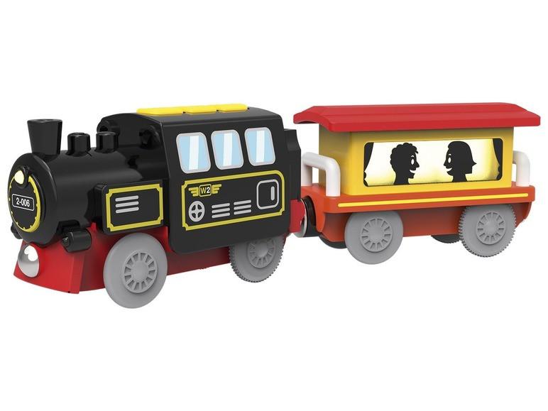 Паровоз на дистанционном управлении смартфоном для деревянной железной дороги Playtive Junior Германия