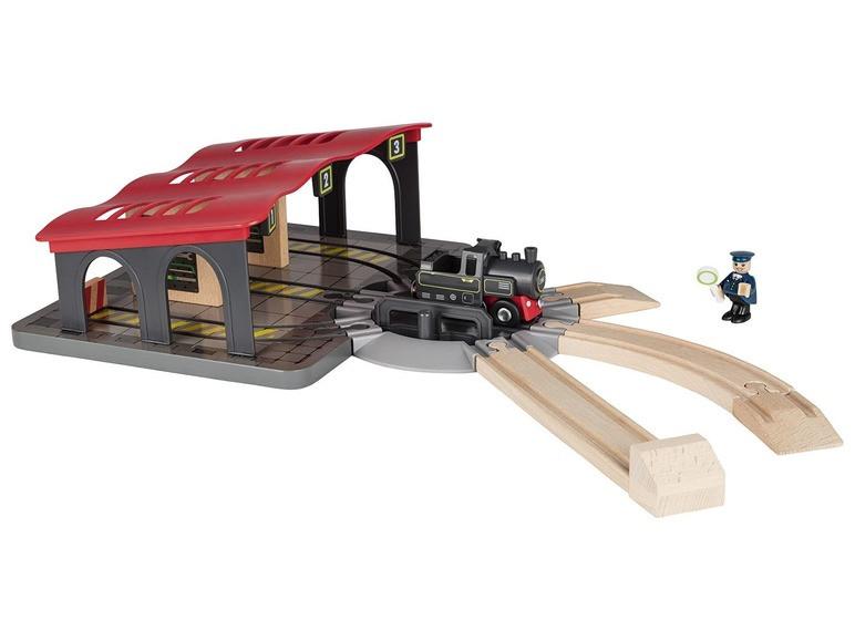 Набор локомотивное депо для деревянной железной дороги Playtive Junior Германия