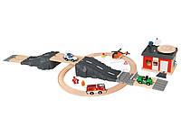 Дерев'яна залізниця PlayTive Junior Рятівна станція 50 елементів Німеччина, фото 1
