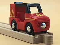 Машинка для деревянной железной дороги PlayTive Junior Feuerwehr Германия, фото 1