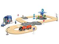 Железная дорога PLAYTIVE® Автострада 3,15 м 40 элементов с дерева Германия