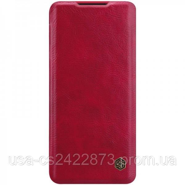 Кожаный чехол (книжка) Nillkin Qin Series для Xiaomi Mi Note 10 Lite