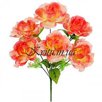 Искусственные цветы букет роз Романтика, 40см