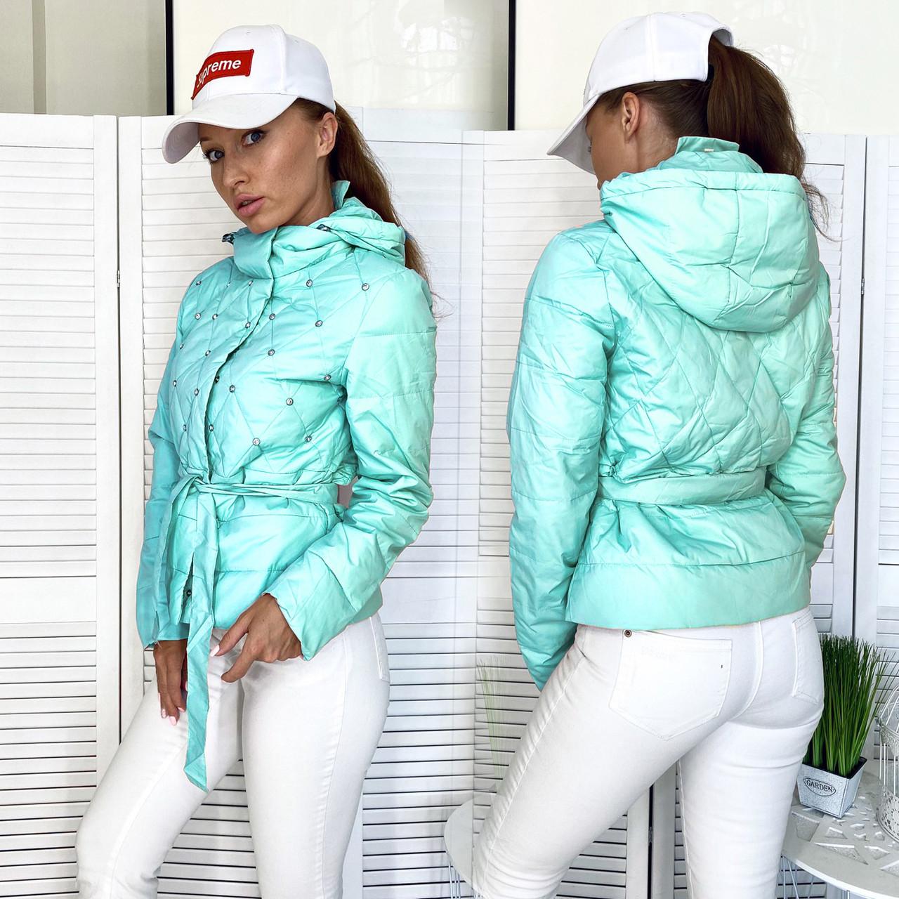98501-4-01 голубая RuYiXue куртка женская осенняя (L,XL,2XL, 3 ед.)