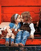 Картина по номерам Mariposa Первый поцелуй 40*50 см (в коробке) арт.MR-Q2229