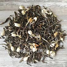 Чай Императорский жасмин. Элитный жёлтый чай с бутонами жасмина. Чай жасмин. 25 грамм. Тоник. Очищение