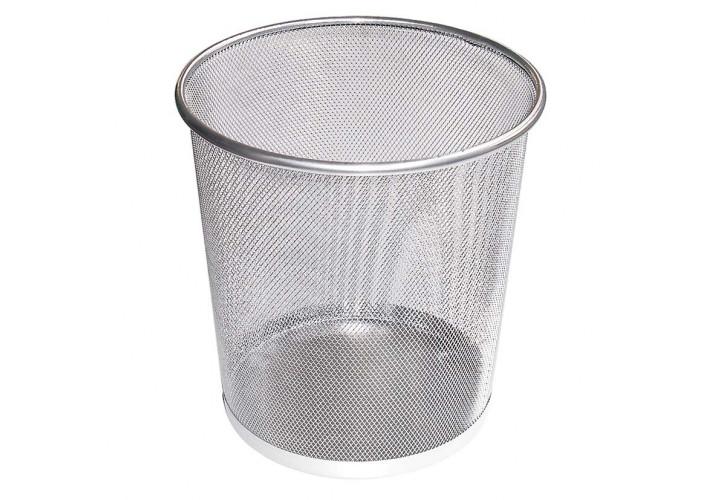 Корзина 10 л металлическая серебряная ( O36310-10)