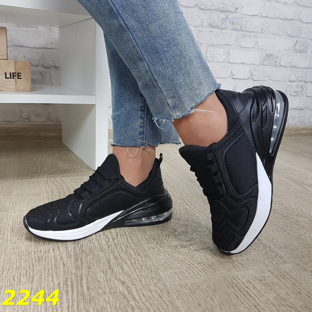 Женские черные кроссовки , хит продаж, sp -2244