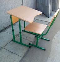 Парта и стульчик ученические регулируемые