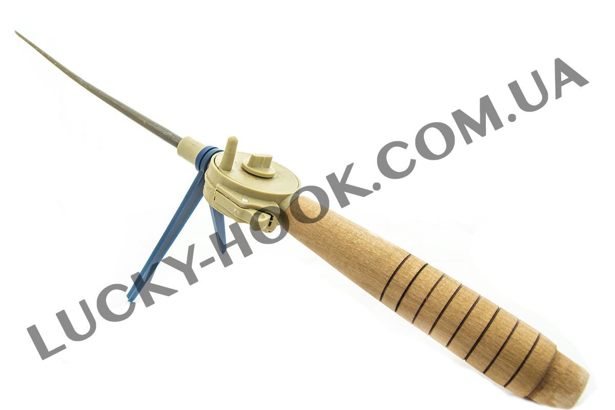Удочка зимняя Клёва с деревянной ручкой
