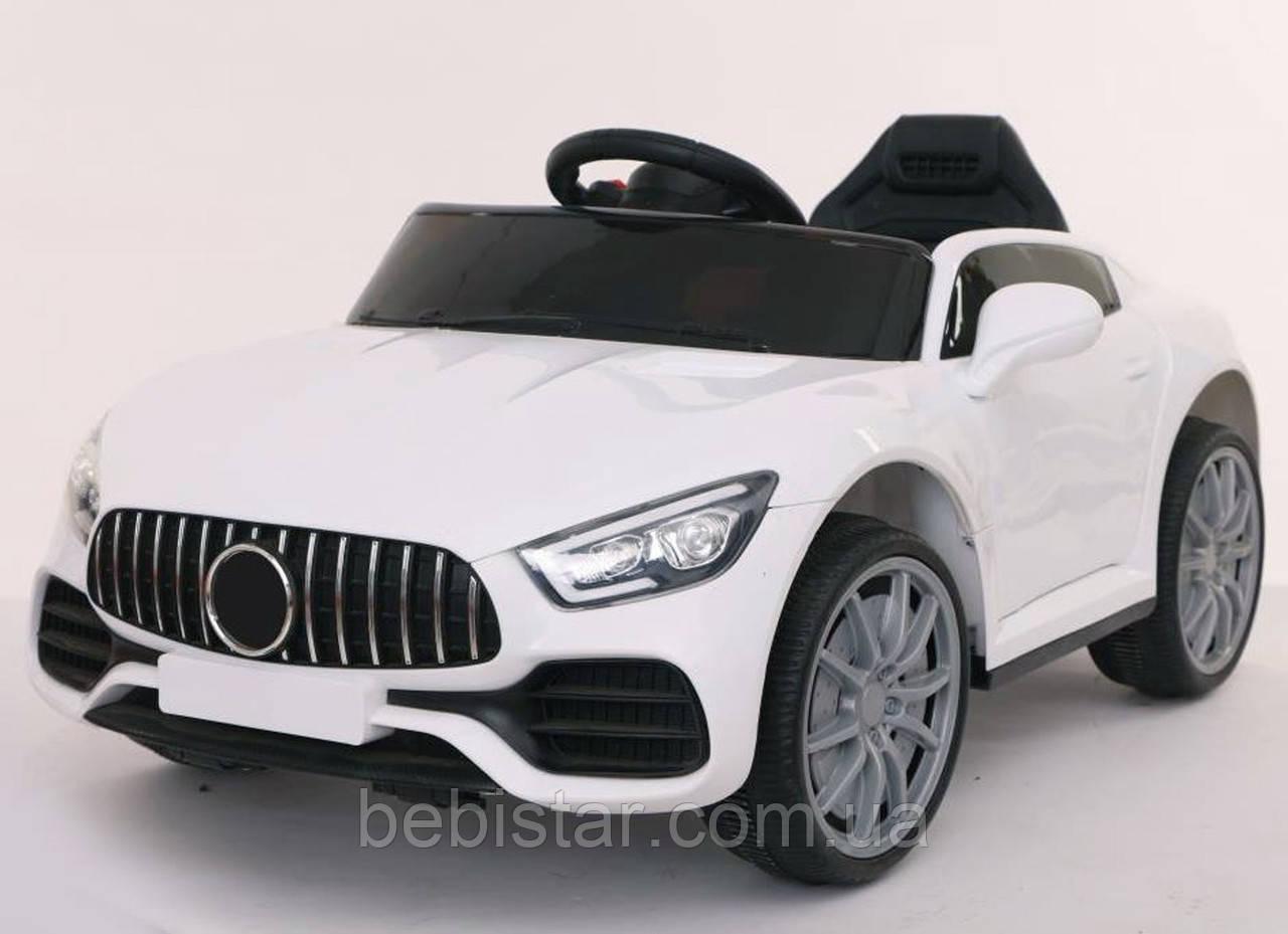 Детский электоромобиль спорткар с мотором 18W пластиковые колеса 102х61х65см деткам 3-8 лет с пультом с MP3 Белый