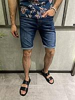 Мужские джинсовые шорты темно-синие, фото 1