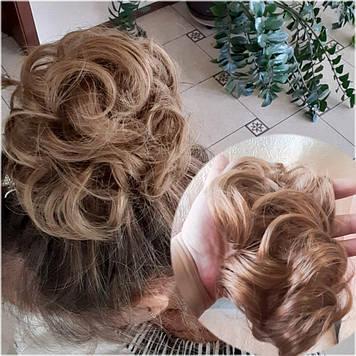 Резинка шиньон из волос песочный 0215V-15