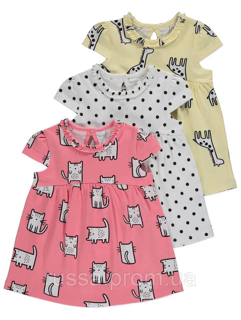 Красивые трикотажные платья Джордж для девочки (поштучно)