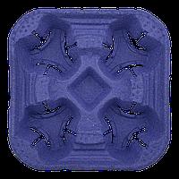 Холдер 4-х секційний синій, 1шт (1уп/100шт), фото 1