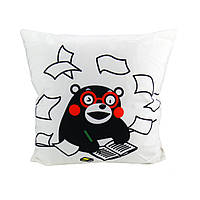 Подушка для дому Usupso Кумамон Бело-черный 2100000005727, КОД: 1766669
