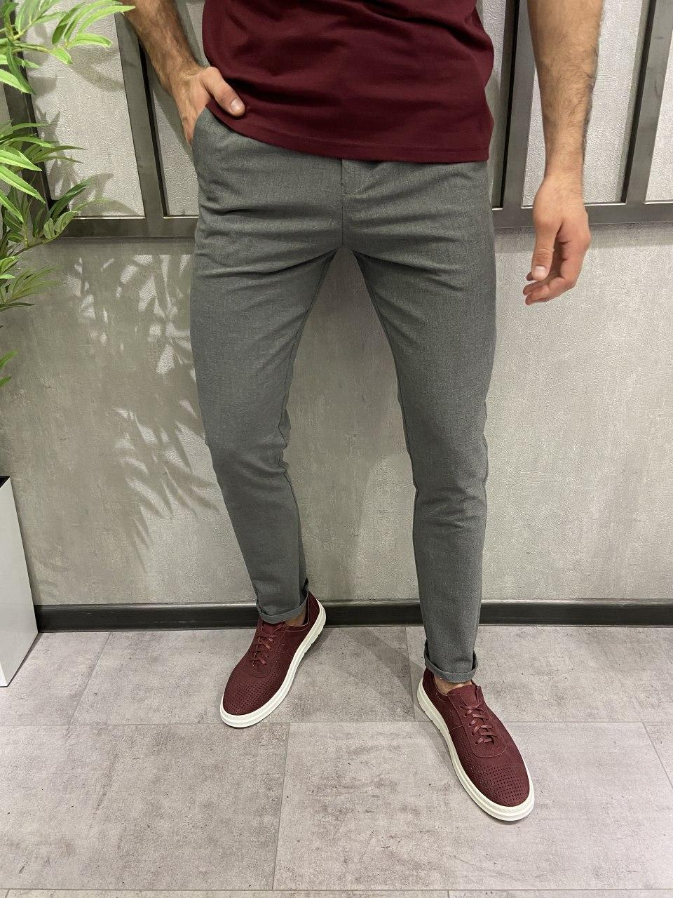 Чоловічі штани сірі 18806
