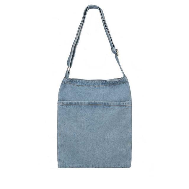 Жіноча джинсова сумка шопер через плече