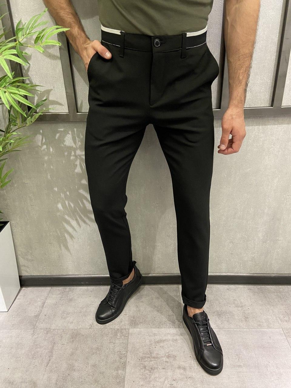 Чоловічі брюки чорні 18807