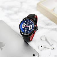 Наручные часы в стиле Tag Heuer Grand Carrera Calibre 17 RS2 Quartz Black-Red