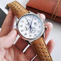 Наручные часы в стиле TAG Heuer Carrera 1887 SpaceX Quartz Silver-White