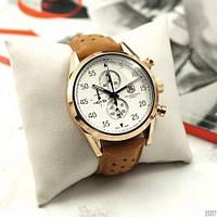 Наручные часы в стиле TAG Heuer Carrera 1887 SpaceX Quartz Gold/White