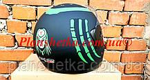 Шлем для мотоцикла Hel-Met F2-825-4 Хишник черный с зеленым мат, фото 3