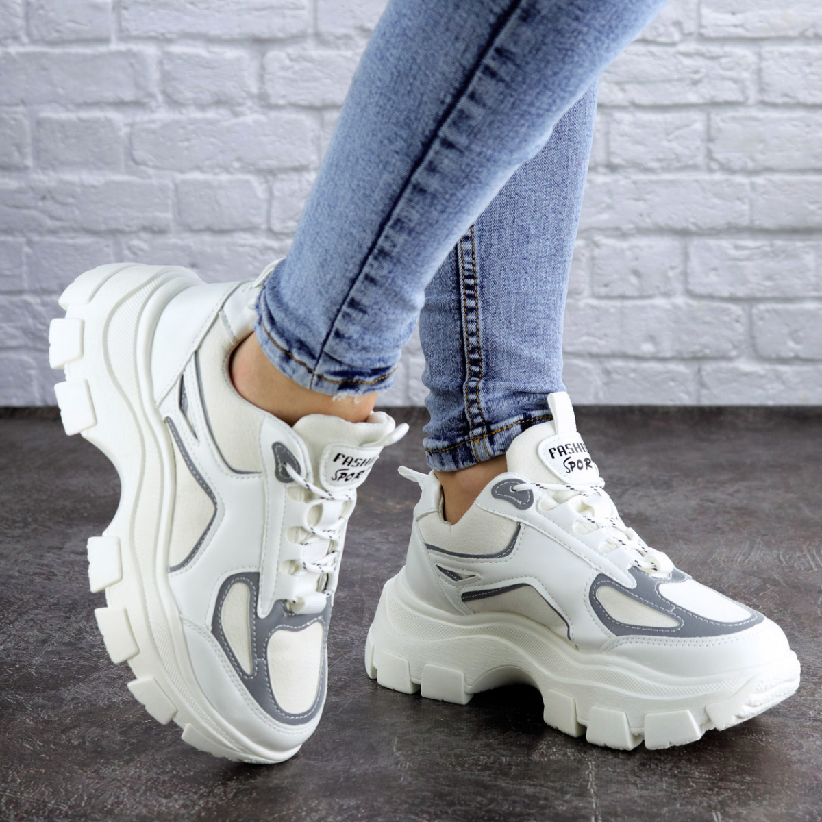 Женские кроссовки Fashion Mateo 2061 36 размер 22,5 см Белый